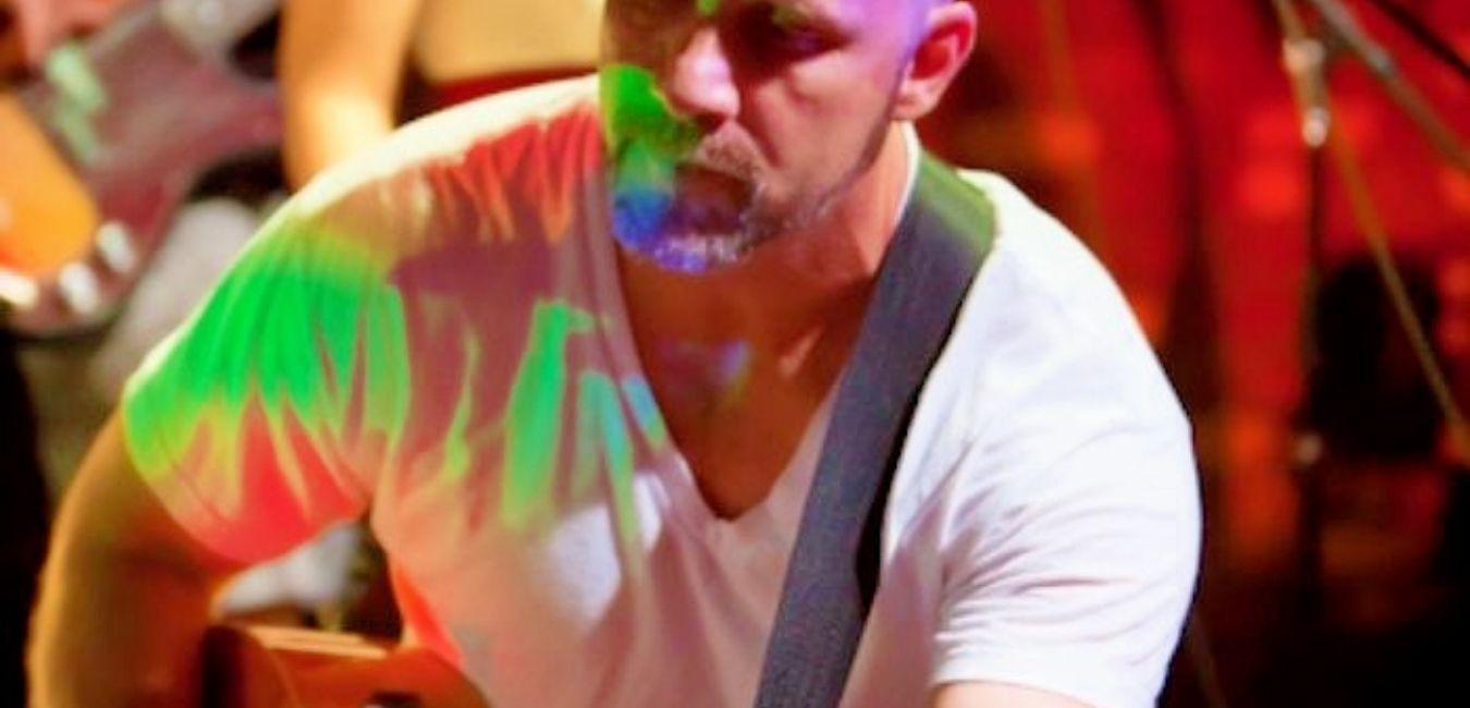 Matthew Moran performing with his band