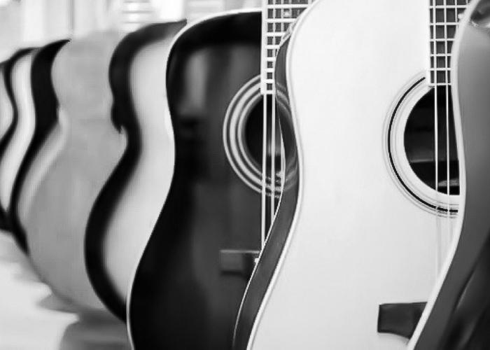 Row of guitar image