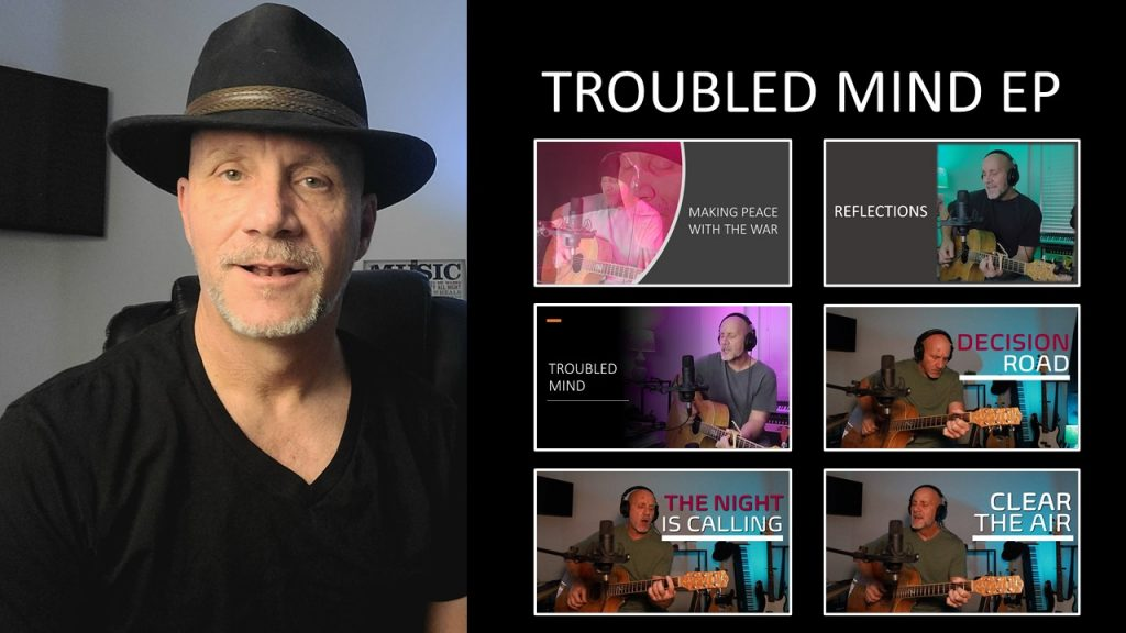 Picture of 6 video thumbnails for the Troubled Mind EP